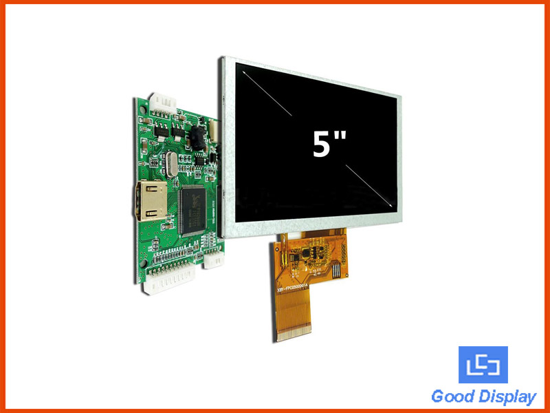 5.0 inch TFT LCD Display HDMI for Raspberry Pi Driver Board (Optional Touch Panel) GDTE050A1-4