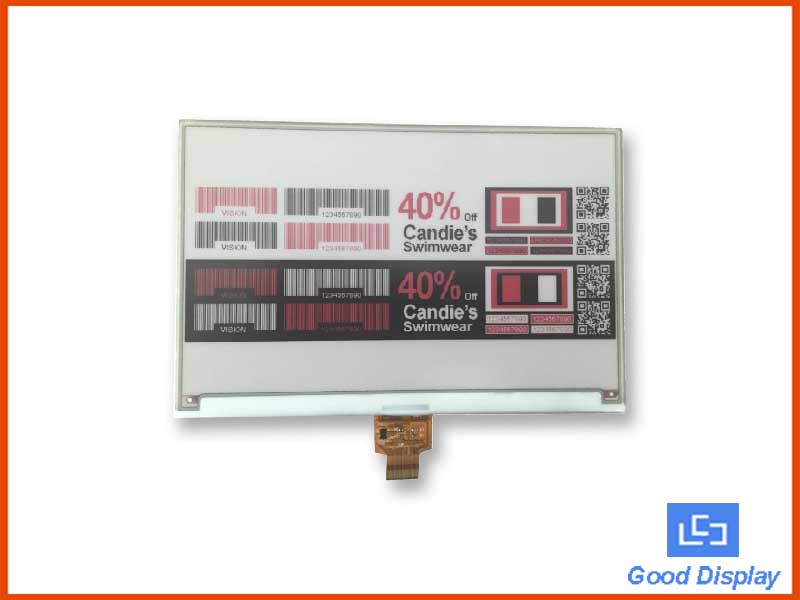 7.5 inch tri-color e-paper display large electronic paper screen GDEW075Z09