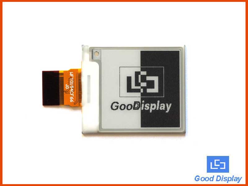 1.54 inch e-paper display high resolution 200x200 partial refresh GDEW0154M09