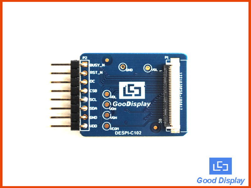 Connection adapter board HAT connect for 1.02 inch e-ink display module DESPI-C102