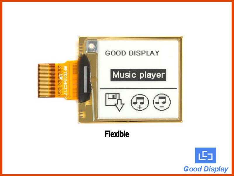 1.54 inch small flexible partial refresh eink screen 4 Grayscale epaper display panel - GDEW0154I9F